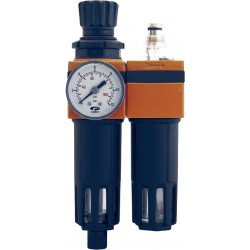 Unitate de filtrare si reglare + ungere aer comprimat 1/4