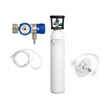 KIT tub oxigen medical 5L cu regulator+umidificator+masca