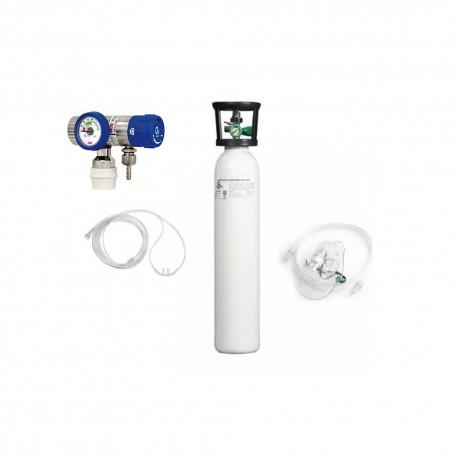 KIT tub oxigen medical 5L cu regulator+umidificator+masca oxigenoterapie
