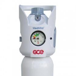 KIT medivital tub oxigen medical 10L cu regulator+umidificator+masca oxigenoterapie