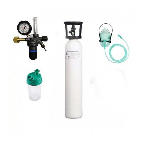 Kit tub oxigen medical 5 litri cu regulator OxiSERV GCE+umidificator+masca oxigenoterapie