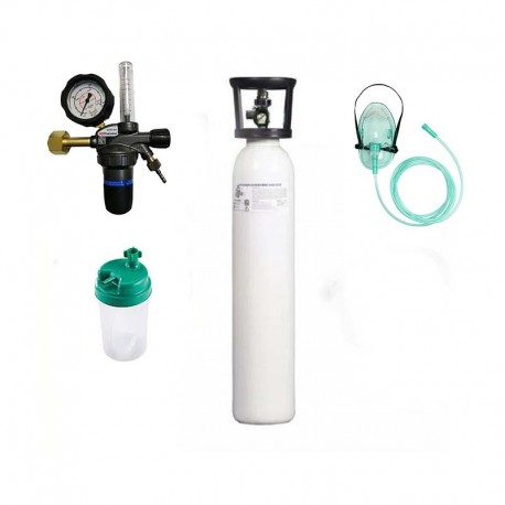 Kit tub oxigen medical 5 litri cu regulator OxiSERV GCE+umidificator+masca oxigenoterapie