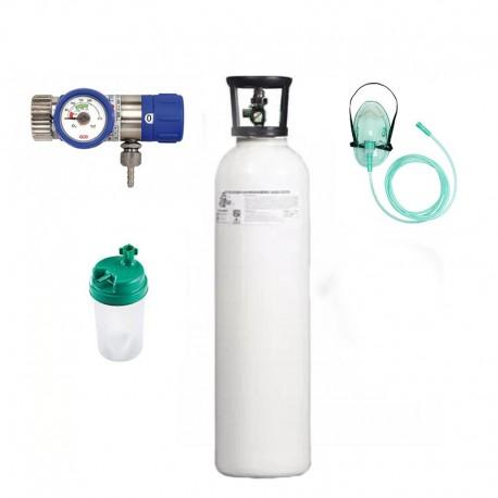 KIT tub oxigen medical 5L cu regulator+umidificator+masca